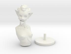 Goblin Bust in White Natural Versatile Plastic