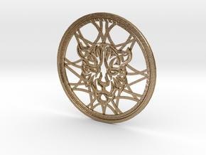 Kingdom Hearts Leopardus Celtic Knot Medallion in Polished Gold Steel