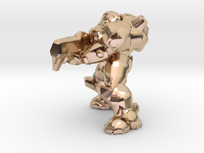terran marine shooting 28mm heroic scale miniature in 14k Rose Gold