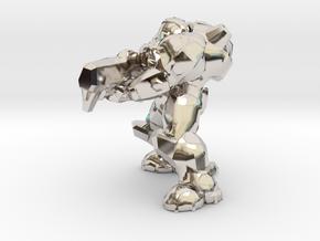 terran marine shooting 28mm heroic scale miniature in Rhodium Plated Brass