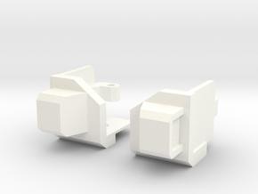 Nautical Robot Shoulders in White Processed Versatile Plastic
