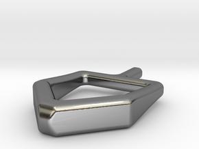 2D spinning hanukkah dreidel in Polished Silver