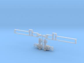 2X Getriebgehäuse mit Rahmen für 7,5 Tonner 1:87 in Smooth Fine Detail Plastic