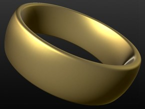 Wedding ring for male 19mm in 18k Gold Plated Brass