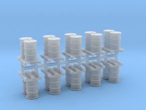 200 Liter Fässer auf Europalette 10er Set - 1:87 H in Smooth Fine Detail Plastic