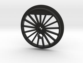 XXL Flanged Driver - 17 Spokes - No Traction Tire  in Black Premium Versatile Plastic