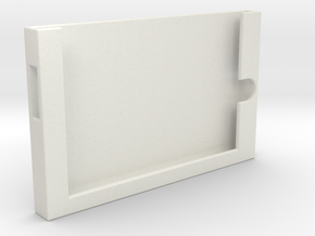 TABLET WALL MOUNT in White Natural Versatile Plastic