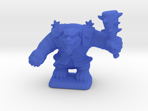 HeroQuest Polar War Bear 28mm miniature in Blue Processed Versatile Plastic