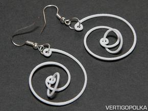 Spiral Earrings in White Natural Versatile Plastic