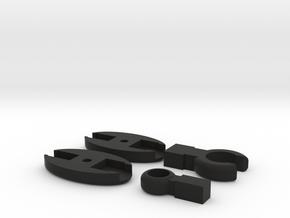 SCUBA - Carabiner Type - HP Hose Clip in Black Natural Versatile Plastic