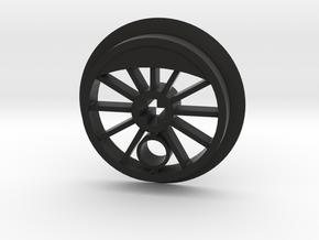 ML Steam Driver - Flanged in Black Premium Versatile Plastic