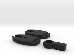 SCUBA - Carabiner Type - O-RING Octopus Holder in Black Natural Versatile Plastic