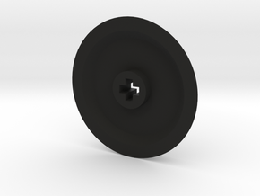 Thin Medium Solid Wheel in Black Natural Versatile Plastic
