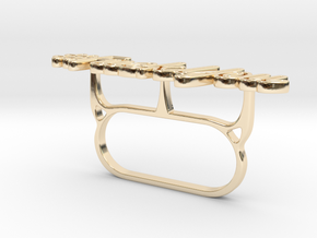 #FuckYou Statement Ring in 14k Gold Plated Brass: 9.5 / 60.25