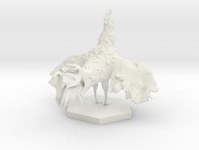 Rooster in White Natural Versatile Plastic: Medium
