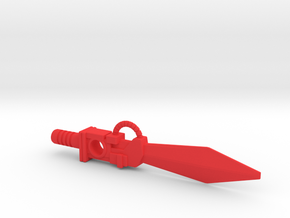 Dinobot Sludge's Sword (PotP) in Red Processed Versatile Plastic: Large