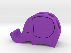 Elephant Cell Phone Stand and Pencil Holder in Purple Processed Versatile Plastic
