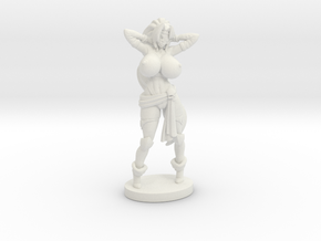 TOPLESS Captain Veronika Red RPG 40mm Mini in White Strong & Flexible