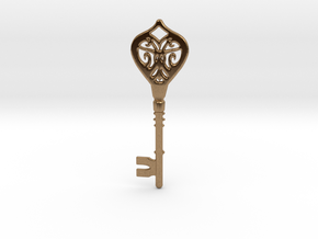 Little Key in Natural Brass