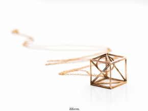 iliCube Pendant in Natural Bronze