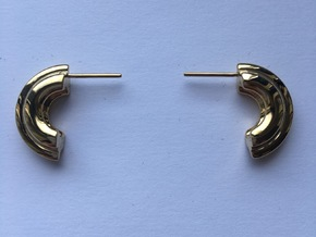 PNEUS Mini Half Hoops in 14k Gold Plated Brass