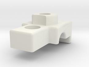 TC4 RollBar Clamp in White Natural Versatile Plastic