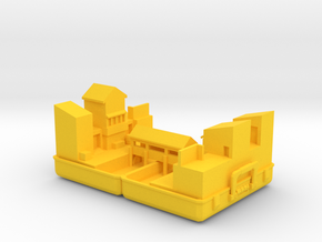 Mini 2fort in Yellow Processed Versatile Plastic