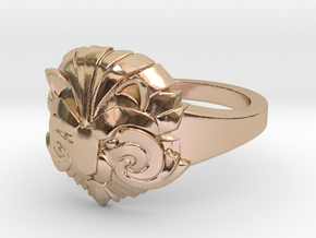 Ring of Courage in 14k Rose Gold Plated Brass: 5 / 49