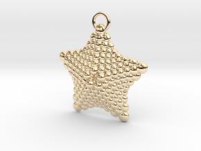 Sphere Starfish Pendant in 14K Yellow Gold