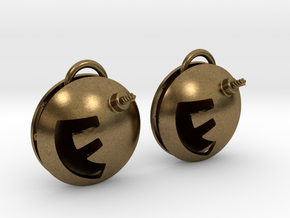 F-Bomb earrings in Natural Bronze (Interlocking Parts)