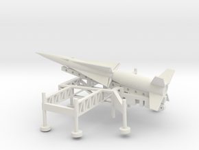 1/144 Scale Nike Ajax Laucher And Missile in White Natural Versatile Plastic