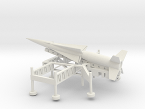 1/100 Scale Nike Ajax Laucher And Missile in White Natural Versatile Plastic