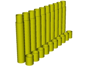 1/16 scale Howitzer 105mm ammo containers x 10 in Smooth Fine Detail Plastic