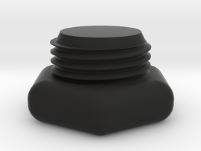 SCUBA - DIN Tank Dust Cap in Black Natural Versatile Plastic