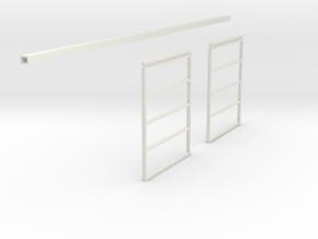 1/64 Sliding Machine Shed Door Frame 14' x 24' in White Natural Versatile Plastic