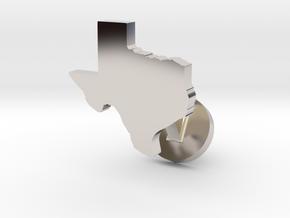 Texas Cufflink - Curved Bar in Platinum