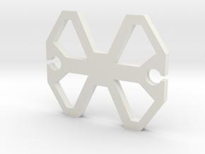 Earphone Wrap in White Natural Versatile Plastic