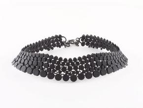 N12.choker in Black Natural Versatile Plastic