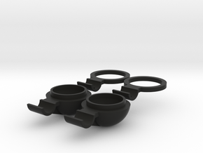 Marui Fog Lights ring and body in Black Natural Versatile Plastic