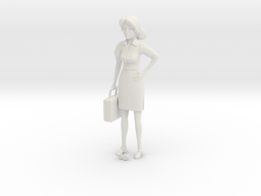 TF2 Miss Pauling Small Figurine in White Natural Versatile Plastic