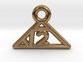Square Root of 2 Charm in Natural Brass