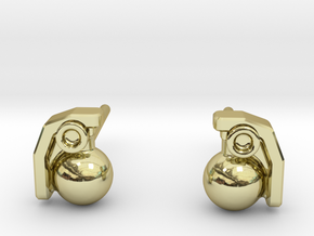 3.5mm M67 Frags  in 18k Gold Plated Brass