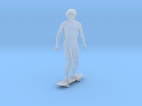 Skateboarding Dan Standing Upright (S) in Smoothest Fine Detail Plastic