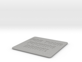 Effing Drink Coaster in Aluminum