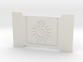 The Black Sun in White Premium Versatile Plastic