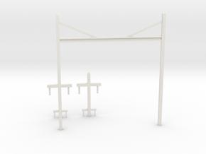 Prr catenary v1 in White Natural Versatile Plastic: 1:87 - HO