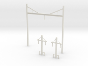 Prr catenary v2 in White Strong & Flexible: 1:87 - HO