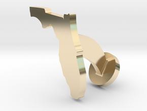Florida Cufflink - Curved Bar in 14k Gold Plated Brass