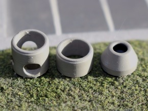N Scale Sewer Manhole Shaft 3pc in Smooth Fine Detail Plastic