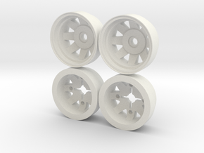 Marui CJ-7/Land Cruiser Rear Wheels in White Natural Versatile Plastic